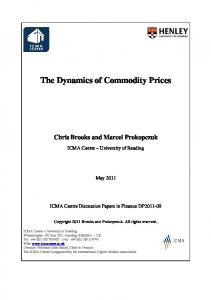 The Dynamics of Commodity Prices