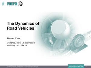 The Dynamics of Road Vehicles