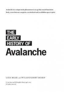 THE EARLY HISTORY OF Avalanche