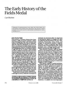 The Early History of the Fields Medal