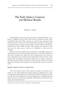 The Early Quincy Cemetery and Mormon Burials