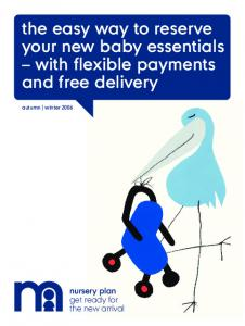 the easy way to reserve your new baby essentials with flexible payments and free delivery