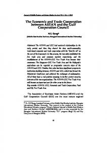 The Economic and Trade Cooperation between ASEAN and the Gulf Cooperation Council