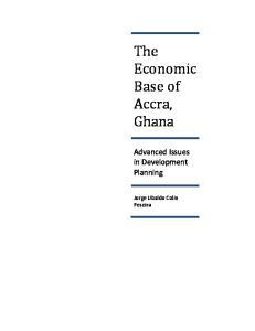 The Economic Base of Accra, Ghana