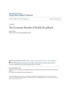 The Economic Benefits of Mobile Broadband
