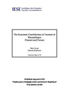 The Economic Contribution of Tourism in Mozambique -Present and Future-