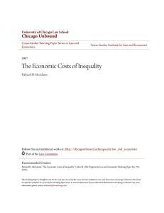 The Economic Costs of Inequality