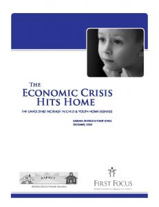 The Economic Crisis Hits Home