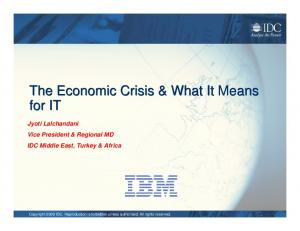 The Economic Crisis & What It Means for IT