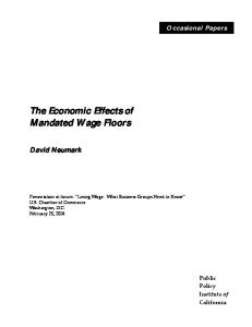 The Economic Effects of Mandated Wage Floors