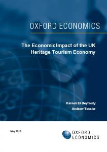 The Economic Impact of the UK Heritage Tourism Economy