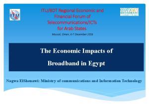 The Economic Impacts of Broadband in Egypt