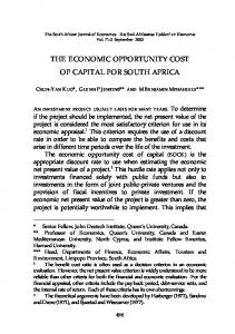 THE ECONOMIC OPPORTUNITY COST OF CAPITAL FOR SOUTH AFRICA