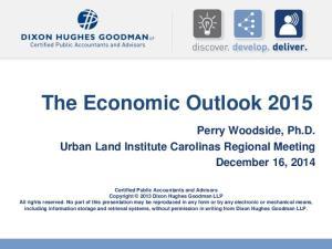 The Economic Outlook 2015