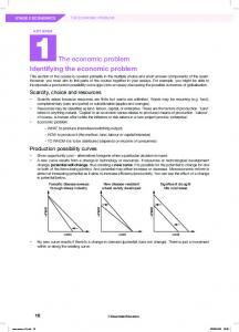 The economic problem Identifying the economic problem