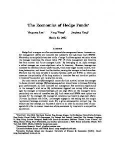 The Economics of Hedge Funds