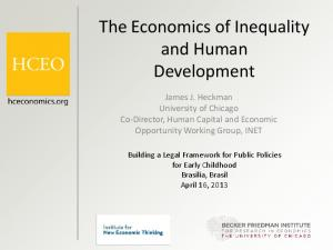 The Economics of Inequality and Human Development