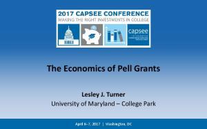The Economics of Pell Grants