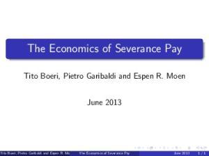The Economics of Severance Pay