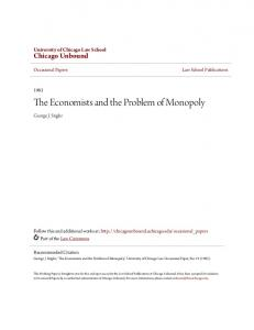 The Economists and the Problem of Monopoly