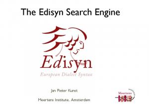 The Edisyn Search Engine