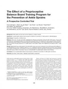 The Effect of a Proprioceptive Balance Board Training Program for the Prevention of Ankle Sprains