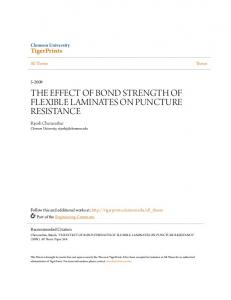 THE EFFECT OF BOND STRENGTH OF FLEXIBLE LAMINATES ON PUNCTURE RESISTANCE