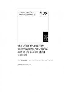 The Effect of Cash Flow on Investment: An Empirical Test of the Balance Sheet Channel