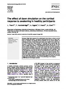 The effect of dawn simulation on the cortisol response to awakening in healthy participants