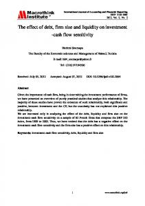 The effect of debt, firm size and liquidity on investment -cash flow sensitivity