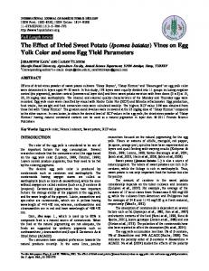 The Effect of Dried Sweet Potato (Ipomea batatas) Vines on Egg Yolk Color and some Egg Yield Parameters
