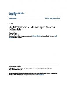The Effect of Exercise Ball Training on Balance in Older Adults