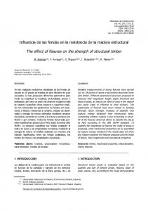 The effect of fissures on the strength of structural timber