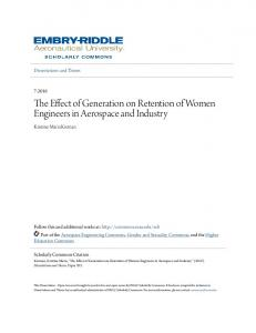 The Effect of Generation on Retention of Women Engineers in Aerospace and Industry