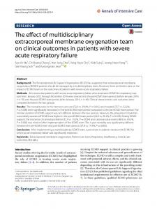 The effect of multidisciplinary extracorporeal membrane oxygenation team on clinical outcomes in patients with severe acute respiratory failure
