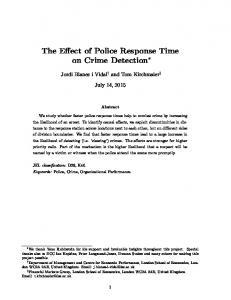 The Effect of Police Response Time on Crime Detection