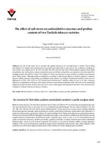 The effect of salt stress on antioxidative enzymes and proline content of two Turkish tobacco varieties