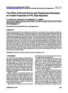 The Effect of Several Service and Weathering Parameters on Tensile Properties of PVC Pipe Materials