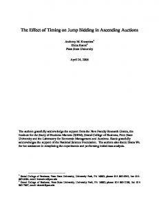 The Effect of Timing on Jump Bidding in Ascending Auctions