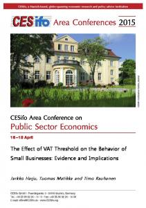 The Effect of VAT Threshold on the Behavior of Small Businesses: Evidence and Implications