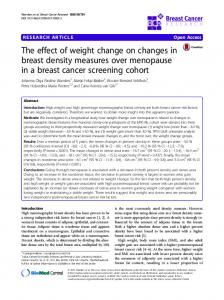 The effect of weight change on changes in breast density measures over menopause in a breast cancer screening cohort