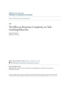 The Effect on Response Complexity on Taskswitching