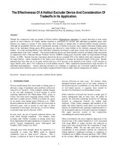 The Effectiveness Of A Halibut Excluder Device And Consideration Of Tradeoffs In Its Application