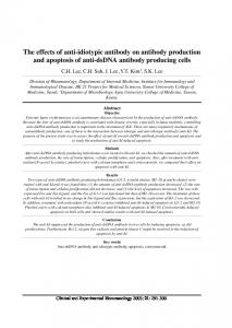 The effects of anti-idiotypic antibody on antibody production and apoptosis of anti-dsdna antibody producing cells