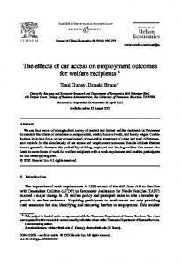 The effects of car access on employment outcomes for welfare recipients