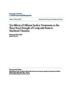 The Effects of Different Surface Treatments on the Shear Bond Strength of Composite Resin to Machined Titanium