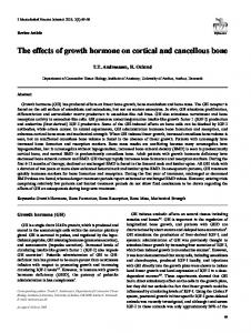 The effects of growth hormone on cortical and cancellous bone