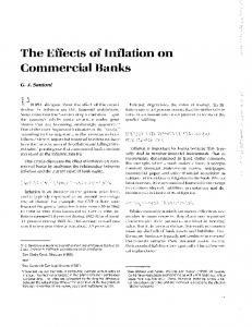 The Effects of Inflation on Commercial Banks