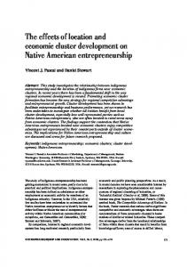 The effects of location and economic cluster development on Native American entrepreneurship
