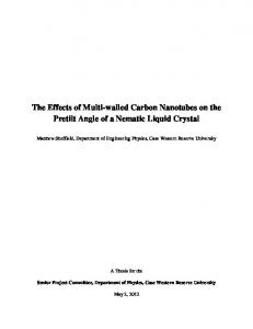 The Effects of Multi-walled Carbon Nanotubes on the Pretilt Angle of a Nematic Liquid Crystal
